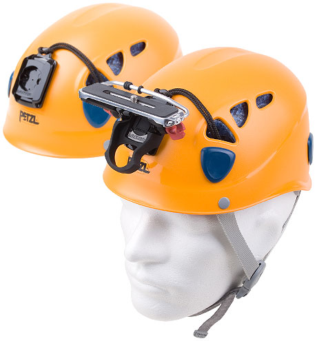 Petzl Mountain Helmets with Camera Adaptor and Camera Platform