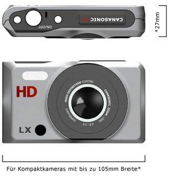 Abmessungen einer Digitalen Kompakt Kamera