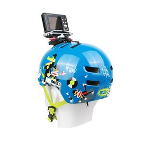 Bell Helmet with Camera attached