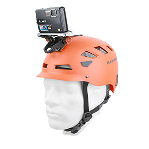 Mammut Helmet with camera attached