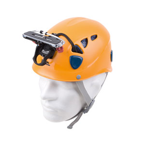 Petzl Helm mit Kamera Träger mit Stativschraube