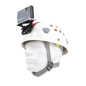 Classic Petzl Helmet with Camera mounted
