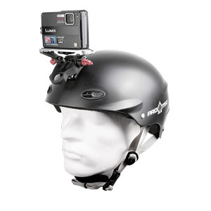 Protec Helmet with Digital Camera attached