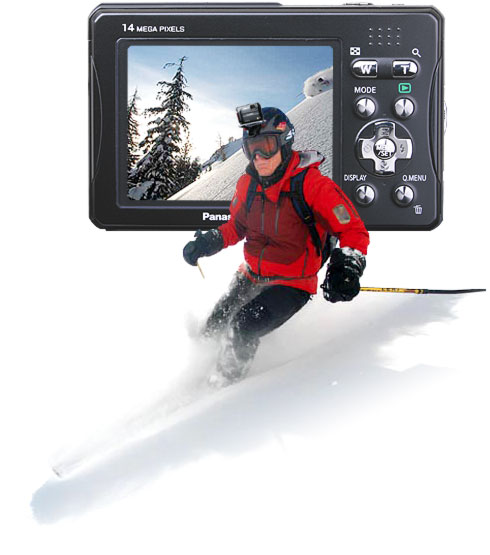 Skiing with a Panasonic Outdoor Camera