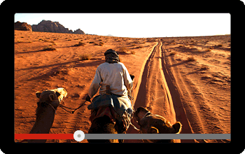 Screen showing a video of Riding