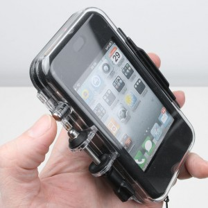 Outride for iphone closed back case with action button