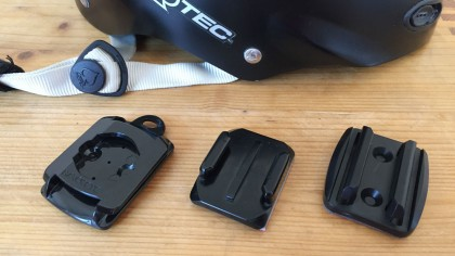 Three different Helmet Adapters
