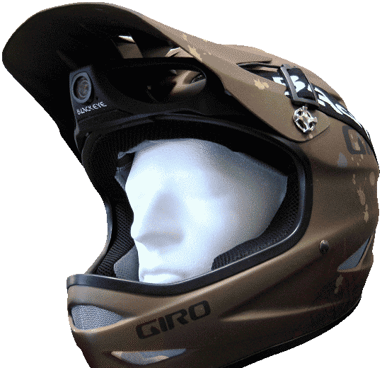 Giro Helmet with Blackeye Two Camera