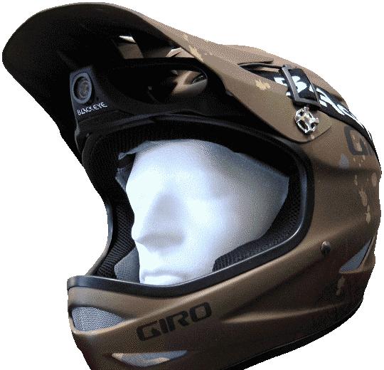 Giro Helm mit Blackeye Two Kopf und Helm Kamera