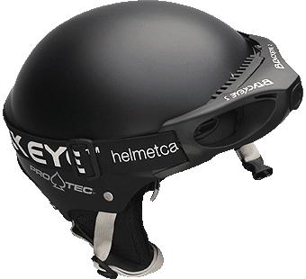 Protec Helm mit Blackeye Two Kopf und Helmkamera