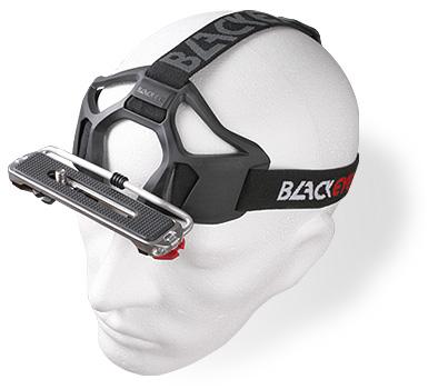Kamera Kopf Halterung auf einem Kopf aus Styropor