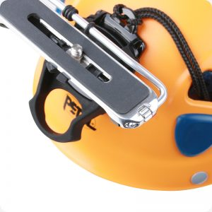 Camera Helmet Mount attached to Helmet