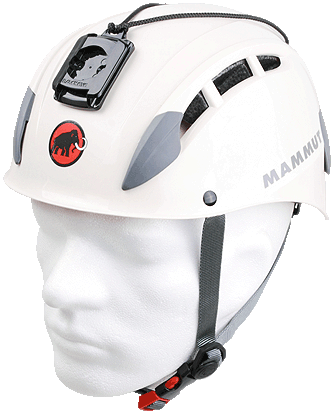 Mammut Skywalker Helmet with attached Camera Adaptor