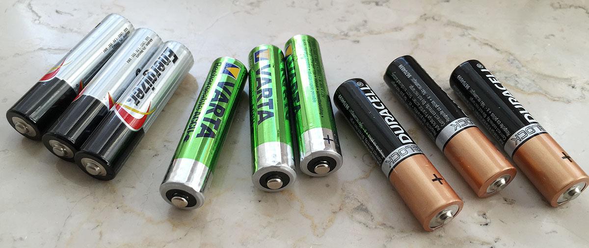 Energizer Varta und Duracell Batterien