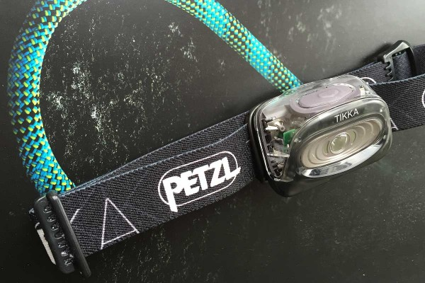 front view of Petzl Tikka headlamp